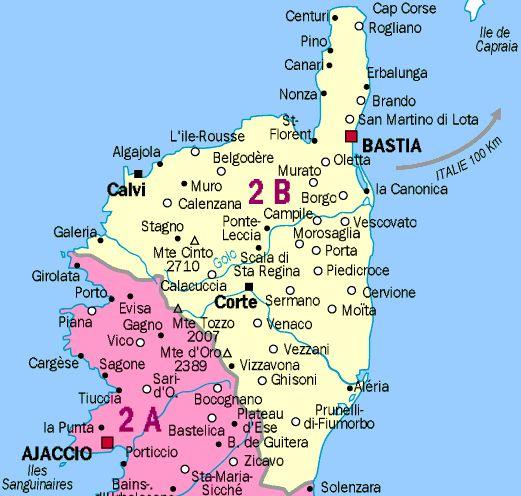 Carte Corse Departement.Vous Avez Cherche Haute Corse Arts Et Voyages